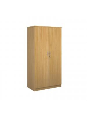 Systems double door cupboard 2000mm high - oak