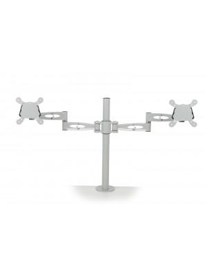 Twin flat screen monitor arm - silver