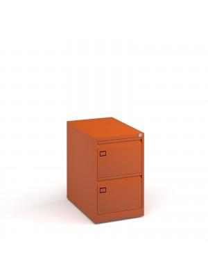 Steel 2 drawer executive filing cabinet 711mm high - orange