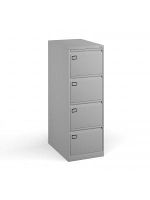 Steel 4 drawer filing cabinet 1321mm high - goose grey