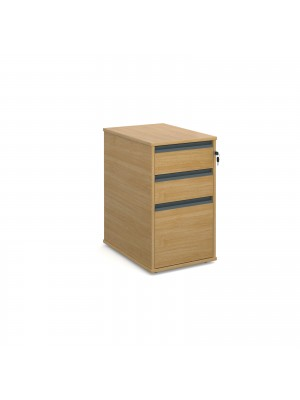 Maestro desk end 3 drawer pedestal 600mm deep - oak