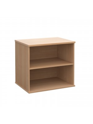 Deluxe desk high bookcase 600mm deep - beech