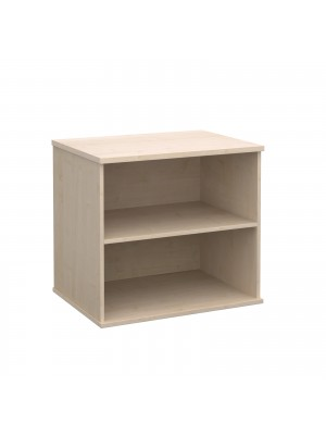 Deluxe desk high bookcase 600mm deep - maple