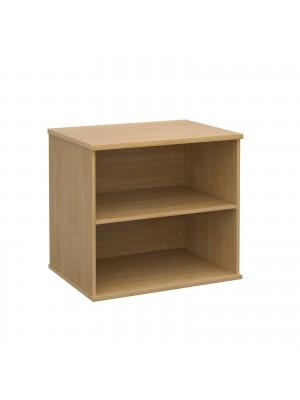 Deluxe desk high bookcase 600mm deep - oak