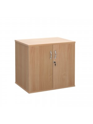 Deluxe double door desk high cupboard 600mm deep - beech