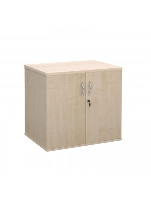 Deluxe double door desk high cupboard 600mm deep - maple