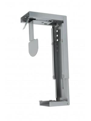 Large under desk CPU holder - silver