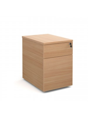 Deluxe 2 drawer mobile pedestal 600mm deep - beech