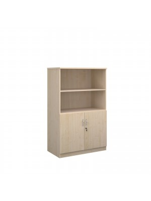 Deluxe combination unit with open top 1600mm high with 3 shelves - maple