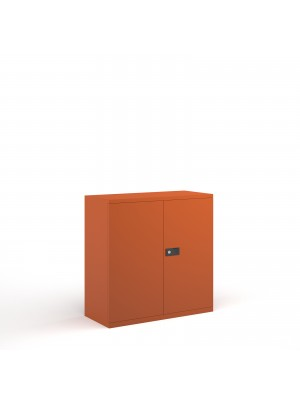 Steel contract cupboard with 1 shelf 1000mm high - orange