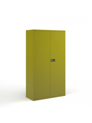Steel contract cupboard with 3 shelves 1806mm high - green