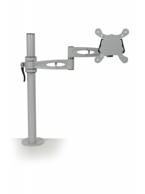 Single flat screen monitor arm - silver