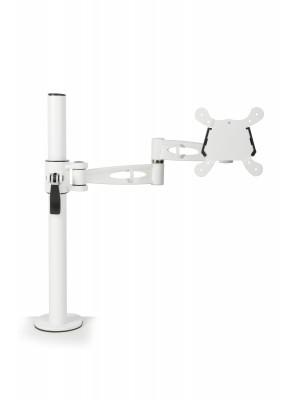 Single flat screen monitor arm - white