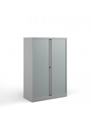 Bisley systems storage medium tambour cupboard 1570mm high - goose grey