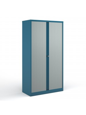 Bisley systems storage high tambour cupboard 1970mm high - blue