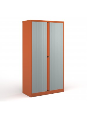 Bisley systems storage high tambour cupboard 1970mm high - orange