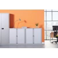 Bisley systems storage high tambour cupboard 1970mm high - black