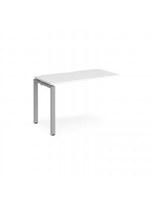Adapt add on unit single 1200mm x 600mm - silver frame, white top