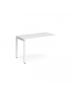 Adapt add on unit single 1200mm x 600mm - white frame, white top