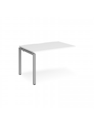 Adapt add on unit single 1200mm x 800mm - silver frame, white top