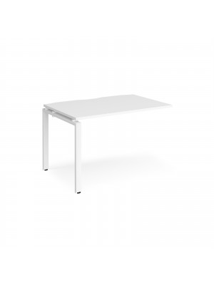 Adapt add on unit single 1200mm x 800mm - white frame, white top
