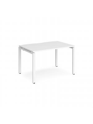 Adapt II single desk 1200mm x 800mm - white frame, white top