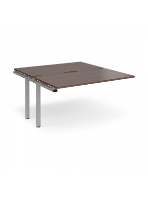 Adapt II add on units back to back 1400mm x 1600mm - silver frame, walnut top