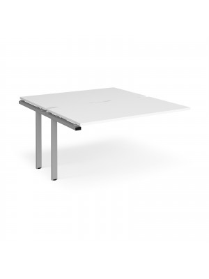 Adapt II add on units back to back 1400mm x 1600mm - silver frame, white top