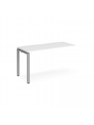 Adapt add on unit single 1400mm x 600mm - silver frame, white top