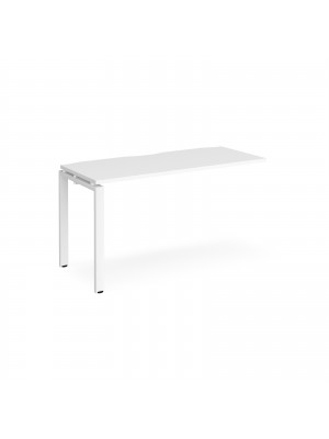 Adapt add on unit single 1400mm x 600mm - white frame, white top