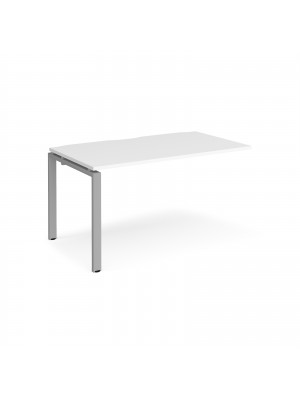 Adapt add on unit single 1400mm x 800mm - silver frame, white top