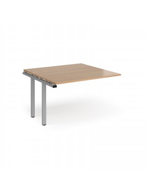 Adapt II boardroom table add on unit 1200mm x 1200mm - silver frame, beech top