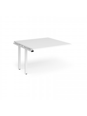 Adapt II boardroom table add on unit 1200mm x 1200mm - white frame, white top