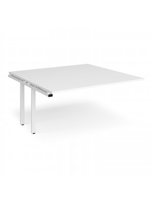 Adapt boardroom table add on unit 1600mm x 1600mm - white frame, white top