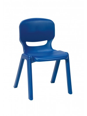 Ergos versatile one piece educational chair for age 14-16 (box of 4) - blue