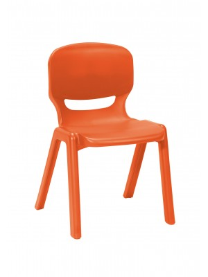 Ergos versatile one piece educational chair for age 14-16 (box of 4) - orange