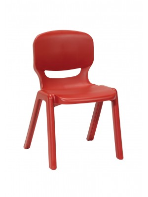 Ergos versatile one piece educational chair for age 14-16 (box of 4) - red