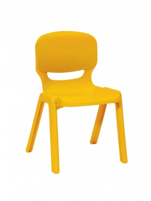 Ergos versatile one piece educational chair for age 14-16 (box of 4) - yellow