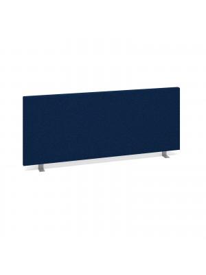 Straight desktop fabric screen 1000mm x 400mm - blue