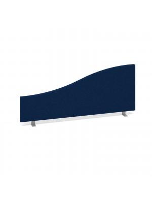 Wave desktop fabric screen 1000mm x 400mm/200mm - blue