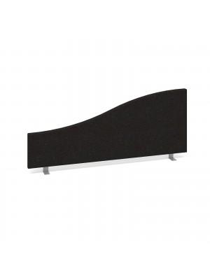 Wave desktop fabric screen 1000mm x 400mm/200mm - charcoal