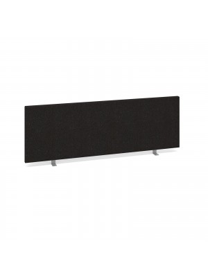 Straight desktop fabric screen 1200mm x 400mm - charcoal