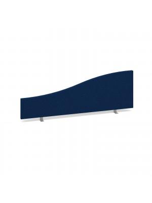 Wave desktop fabric screen 1200mm x 400mm/200mm - blue