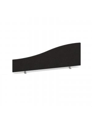 Wave desktop fabric screen 1200mm x 400mm/200mm - charcoal
