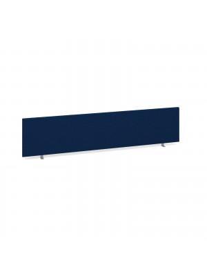 Straight desktop fabric screen 1800mm x 400mm - blue