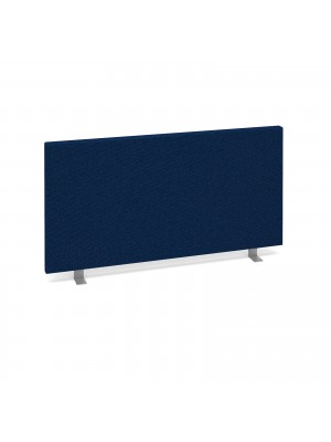 Straight desktop fabric screen 800mm x 400mm - blue
