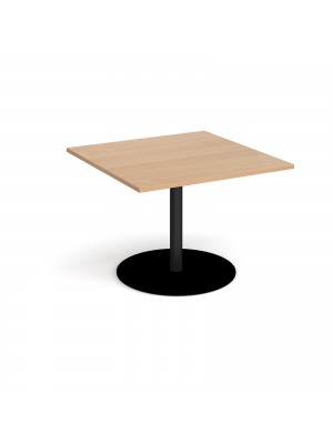 Eternal square extension table 1000mm x 1000mm - black base, beech top