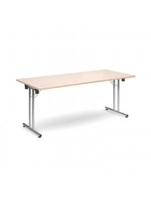 Rectangular deluxe folding leg table 1800mm x 800mm - maple