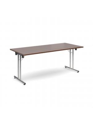 Rectangular deluxe folding leg table 1800mm x 800mm - walnut