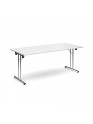 Rectangular deluxe folding leg table 1800mm x 800mm - white